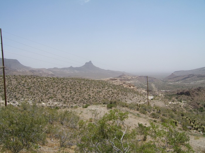 The road to Oatman, Az