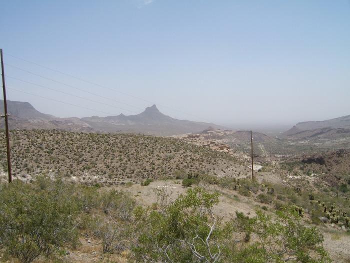 The road to Oatman, Az