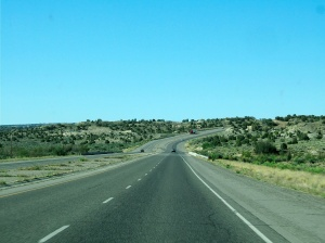 The road from Durango to Chaco Canyon, It looked like this for most of the two hour drive.
