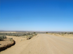 The road into Chaco Canyon before the pavement.